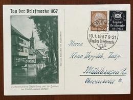 K5 Deutsches Reich 1937 Sonderkarte Tag Der Briefmarke Mit Sst. Erfurt - Lettres & Documents