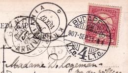 Carte Postale Budapest 1907 Magyarország Hongrie Gand Belgique Kristiania Oslo Norvège Norge - Hongrie