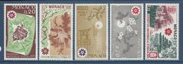 Monaco - YT N° 822 à 826 - Neuf Sans Charnière - 1970 - Monaco
