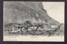 CPA GIBRALTAR - Catalan Bay - TB PLAN Habitations Avec Détails En Bas De La Falaise + Bâteaux TB TAMPON HOTEL MALLORCA - Gibilterra