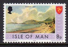 GB ISLE OF MAN IOM - 1973 8p RAMSEY BAY DEFINITIVE STAMP FINE MNH ** SG 26 - Isle Of Man