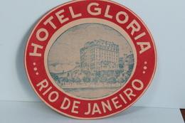 RIO  DE  JANEIRO   -         HOTEL  GLORIA     ETIQUETTE   193? - Publicités