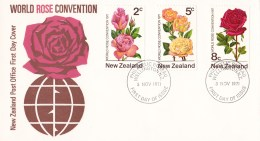 New Zealand 1971 World Rose Convention FDC - FDC