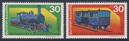 Bulgaria Bulgarien 1991 Mi 3938 /9  YT 3404 /5 ** Early Steam Loc. And Tender + Early Six-wheeled Carriage / Eisenbahn - Bulgarije