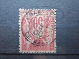 """VEND TIMBRE DE FRANCE N° 104 , CACHET """" CHARGEMENTS - LE MANS """" !!! - 1898-1900 Sage (Type III)"""