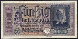 Germany 50 Reichsmark 1940 Occupation Waffen SS Banknote - [ 9] Duitse Bezette Gebieden