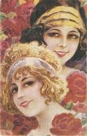 """R.Mir. Tapiz. Two Beautiful Ladies"" Nice Spanish Postcard 1920s - Mujeres"