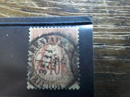 Type SAGE, Yvert No 70 , 40 C Rouge Orange Obl Cachet MOUTIERS Moutier TARENTAISE, Savoie, Belle Frappe,  SUPERBE - 1876-1878 Sage (Type I)