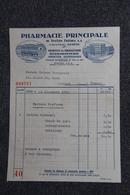 Facture Ancienne - GENEVE , Pharmacie Principale, DE TOLEDO Frères ( Petit Format) - Switzerland