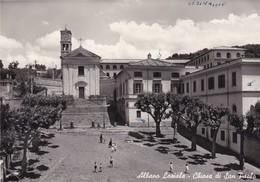 ITALIA   CARTOLINA ALBANO LAZIALE CHIESA DI SAN PAOLO  VIAGGIATA - Italia