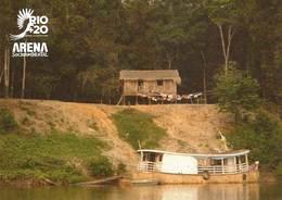 BRAZIL -  Amazon Rainforest Biome  Postcard -  Rio +20  Conference For Sustainable Development -  2012 - Manaus