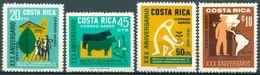 Costa Rica - 1972 - Yt PA 532/535 - 30 Ans De L'Institut Supérieur Techniques Agricoles ** - Costa Rica