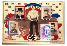 Thème Général De Gaulle - Sur Les Murs De France - CP 178 - Personajes Históricos