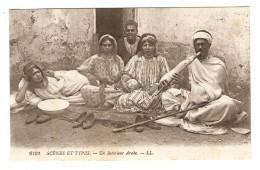MAROC SCENES ET TYPES UN INTÉRIEUR ARABE - ÉDITIONS LL N° 6123 - TAZA 27/6/1918 - 2 Scans - - Maroc