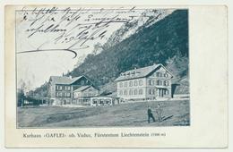Kurhaus Gaflei Ob Vaduz Stempel Vaduz Auf 5 Heller Marke - Liechtenstein