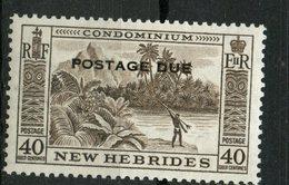 New Hebrides 1957 40c Postage Due Issue #J19 MNH - English Legend