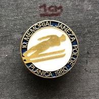Badge (Pin) ZN006904 - Skiing / Ski Jumping Yugoslavia Slovenia Planica Memorial Janeza Polde 1980 - Winter Sports