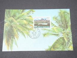 POLYNÉSIE FRANÇAISE - Carte  Maximum  Tahiti En 1991 - L 16604 - Cartes-maximum