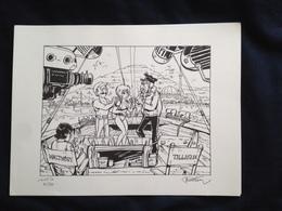 "Francois WALTHERY ""Natacha"" - Screen Printing & Direct Lithography"