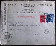 1945 LETTRE CENSURE DE  * LISBOA * - Vers ANVERS --- * OUVERT PAR LES AUTHORITES BELGES !! - 1910-... République
