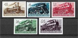1559a: German Reich, Ca. 1942, Trains 5 Issues/ Reprints (fake-faux-forgeries) * - Viñetas De Fantasía