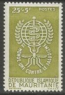 Mauritania - 1962 Anti Malaria Campaign 25f+5f   MNH **     Sc B16 - Mauritania (1960-...)