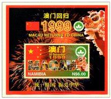 NAMIBIE. BF 41 De 1997. Retour De Macao à La Chine/Dragon. - Namibie (1990- ...)