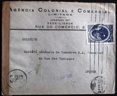 1945 LETTRE CENSURE DE  * LISBOA * - Vers ANVERS --- * CONTROLE NON MARQUEE !! RRRR - 1910-... République