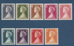 Monaco - YT N° 478 à 486 - Neuf Sans Charnière - 1957 - Monaco