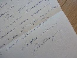 André BILLY (1882-1971) Romancier ACADEMIE GONCOURT. Ami LEAUTAUD. Autographe - Autographs