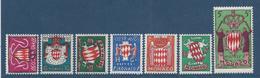 Monaco - YT N° 405 à 411 - Neuf Sans Charnière - 1954 - Neufs