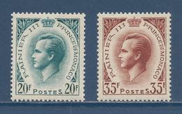 Monaco - YT N° 425 A Et 426 A - Neuf Sans Charnière - 1955 à 1957 - Neufs