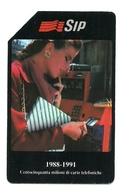 Italia - Tessera Telefonica Da 5.000 Lire N. 134 - 150 Milioni, - Pubbliche Figurate Ordinarie