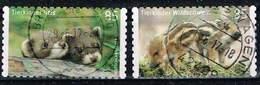 Bund 2017, Michel# 3293 - 3294 O Tierkinder: Iltis Und Wildschwein Markenset Selbstklebend, Self-adhesive - BRD