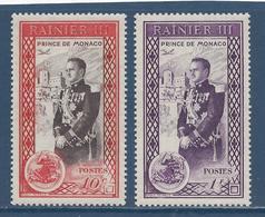 Monaco - YT N° 338 Et 340 - Neuf Sans Charnière - 1950 - Neufs