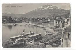 19758 - Luzern Seebrücke Und Pilatus Vapeurs - LU Lucerne