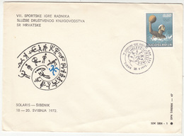 Yugoslavia 1972 Workers Sport Games In Sibenik Special Cover And Postmark B180508 - Water Polo
