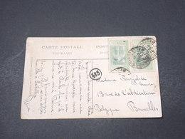CÔTE D'IVOIRE - Affranchissement De Grand Bassam Sur Carte Postale Pour La Belgique En 1914 - L 16652 - Ivory Coast (1892-1944)