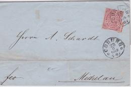 NORDDEUTSCHER BUND 1869 LETTRE DE COBURG - Norddeutscher Postbezirk