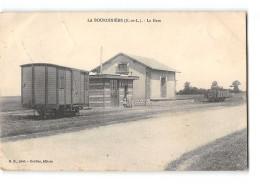 CPA 28 La Bourdiniere La Gare - France
