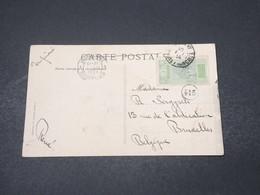 GUINÉE - Affranchissement De Konakry Sur Carte Postale En 1914 Pour La Belgique - L 16656 - French Guinea (1892-1944)
