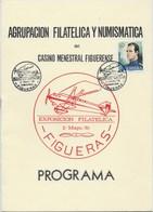 ESPAGNE PROGRAMA EXPOSICION FILATELICA FIGUERAS 1976 8 PAGES + COUVERTURE CARTONNEE - Exposiciones Filatélicas