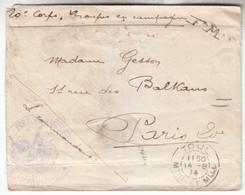 1914 - En FM Avec Tampon Fort De Villey-le-Sec Et TàD De Toul - FRANCO DE PORT - WW I
