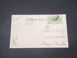 GUINÉE - Affranchissement De Konakry Sur Carte Postale En 1914 Pour La Belgique - L 16657 - French Guinea (1892-1944)