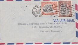 GUYANE BRITANNIQUE 1962 LETTRE - Guyane Britannique (...-1966)