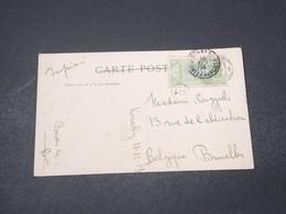 GUINÉE - Affranchissement De Konakry Sur Carte Postale En 1914 Pour La Belgique - L 16659 - French Guinea (1892-1944)