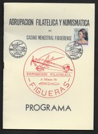ESPAGNE PROGRAMA EXPOSICION FILATELICA FIGUERAS 1976 8 PAGES + COUVERTURE CARTONNEE - Literatura