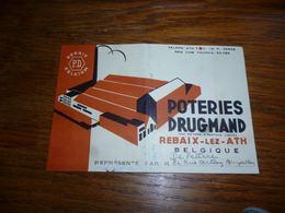 BC4-2-0 Poteries Drugmand Rebaix Lez Ath Carte Publicitaire - Publicité