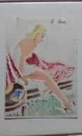 BARRE DAYEZ N° 1280 - LE LEVER - FEMME - MODE - WOMAN - FASHION - Illustrateur ANDRE STEFAN - Donne