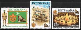 Botswana, Scott # 51-3 MNH, Scouting, 1969 - Botswana (1966-...)
